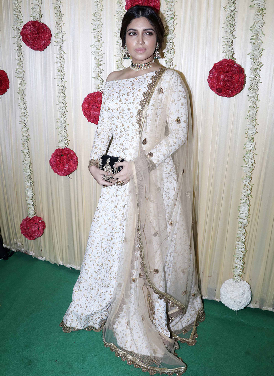 Bhumi Pednekar at Ekta Kapoor's Diwali party hosted at her residence in Mumbai on October 17, 2017. (Image: Yogen Shah)