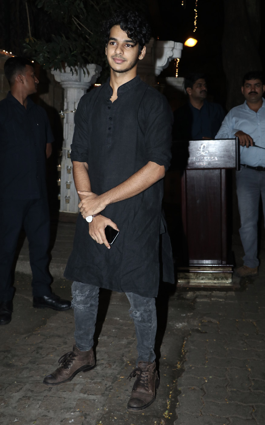 Shahid Kapoor's brother Ishaan Khattar attends Anil Kapoor's Diwali party hosted at his residence in Mumbai on October 19, 2017. (Image: Yogen Shah)