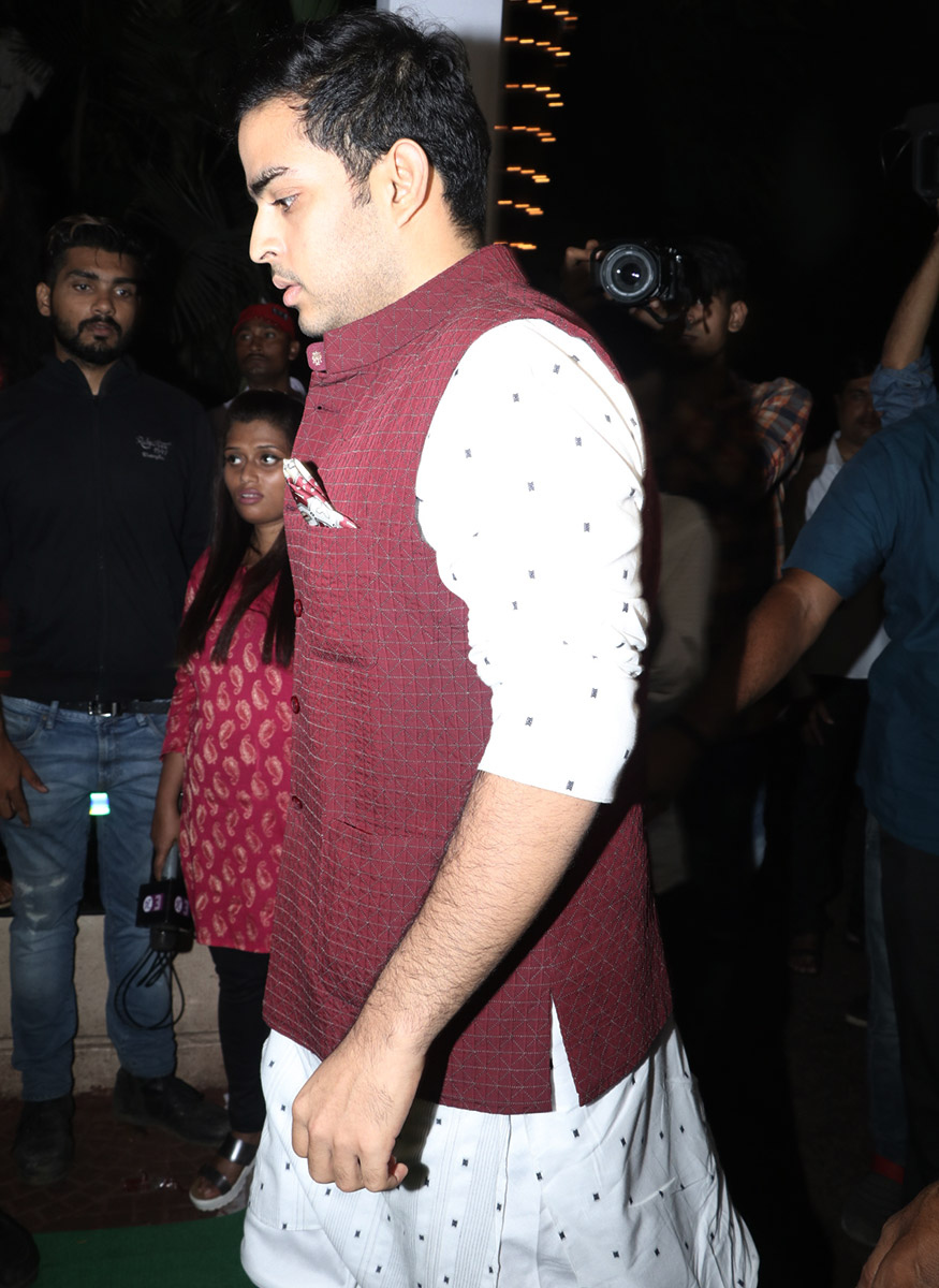 Akash Ambani attends Ekta Kapoor's Diwali party hosted at her residence in Mumbai on October 17, 2017. (Image: Yogen Shah)