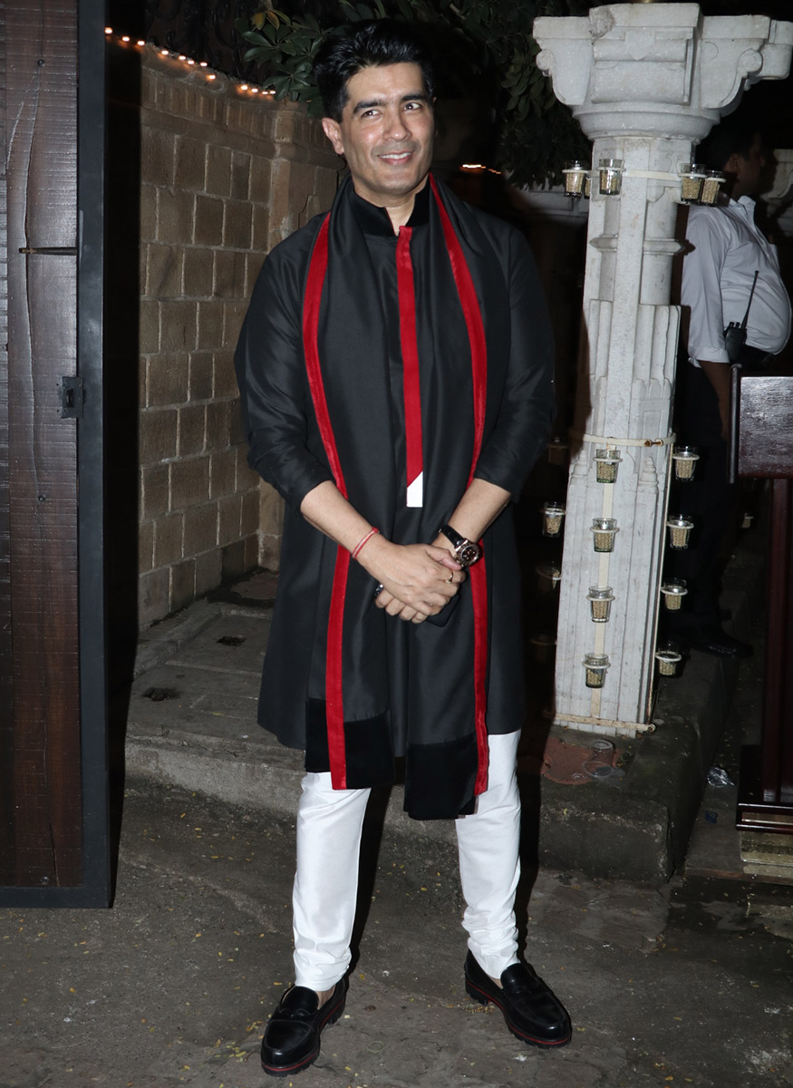 Fashion designer Manish Malhotra during Anil Kapoor's Diwali party hosted at his residence in Mumbai on October 19, 2017. (Image: Yogen Shah)