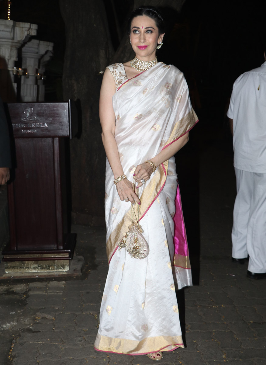 Karisma Kapoor at Anil Kapoor's Diwali party hosted at his residence in Mumbai on October 19, 2017. (Image: Yogen Shah)