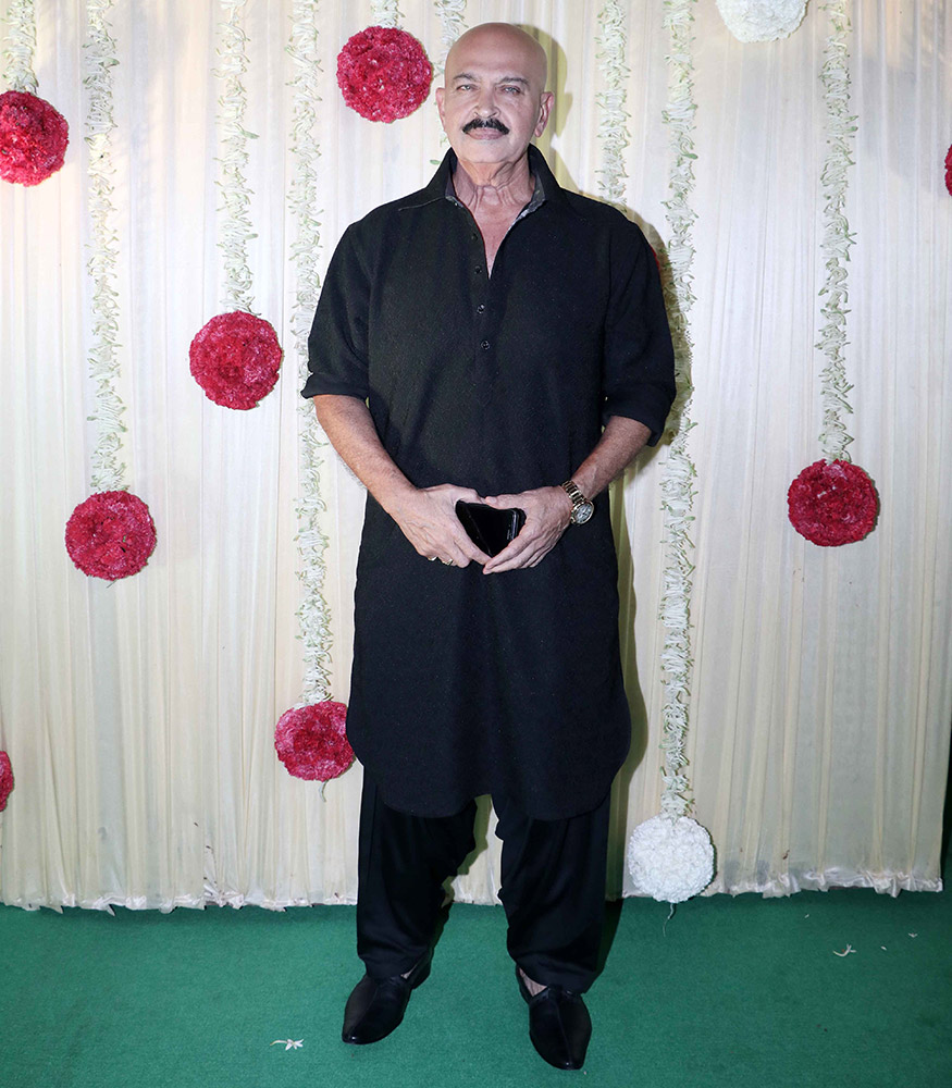 Rakesh Roshan graces Ekta Kapoor's Diwali party hosted at her residence in Mumbai on October 17, 2017. (Image: Yogen Shah)