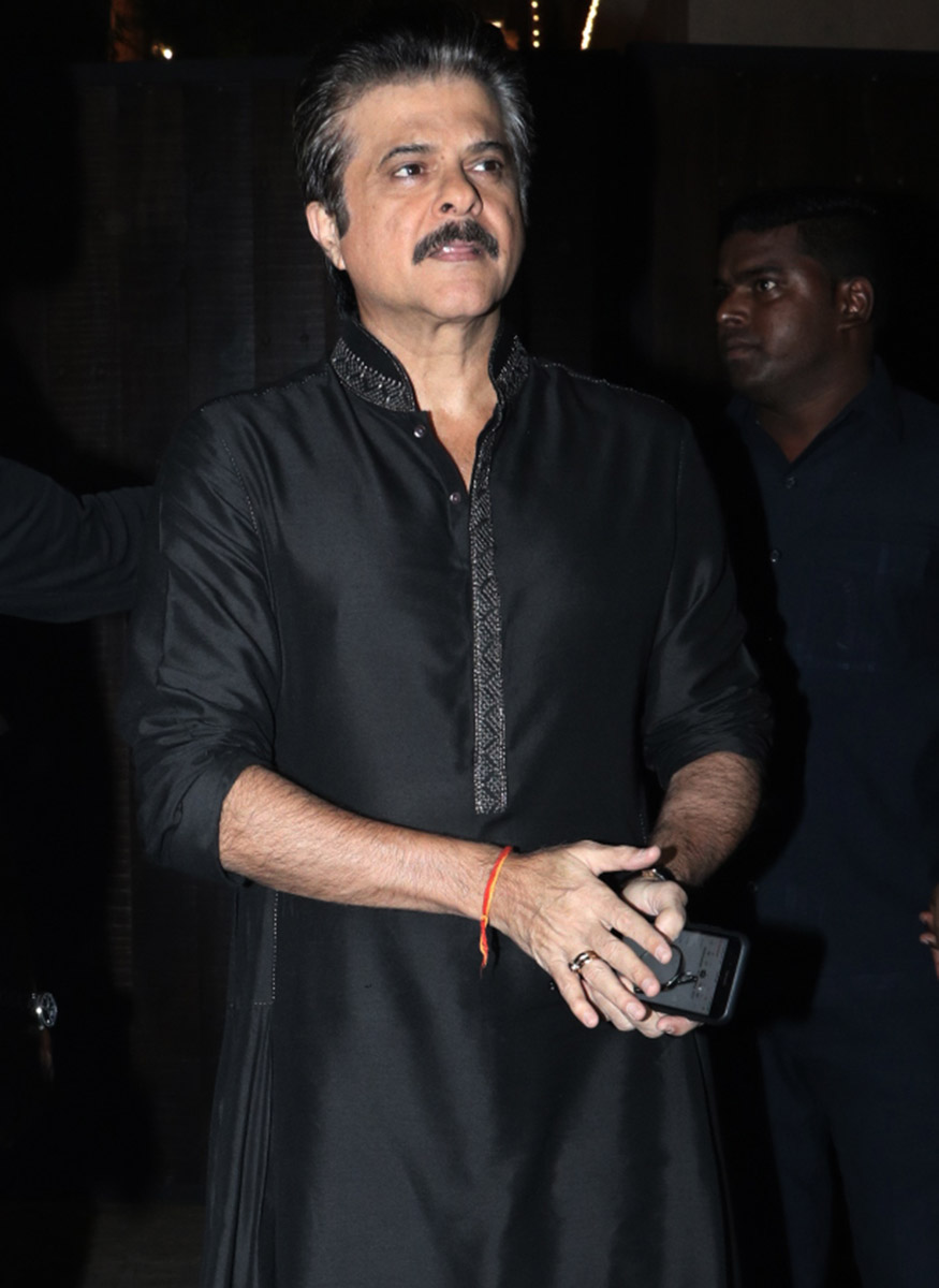 Anil Kapoor during his grand Diwali party held at his residence in Mumbai on October 19, 2017. (Image: Yogen Shah)
