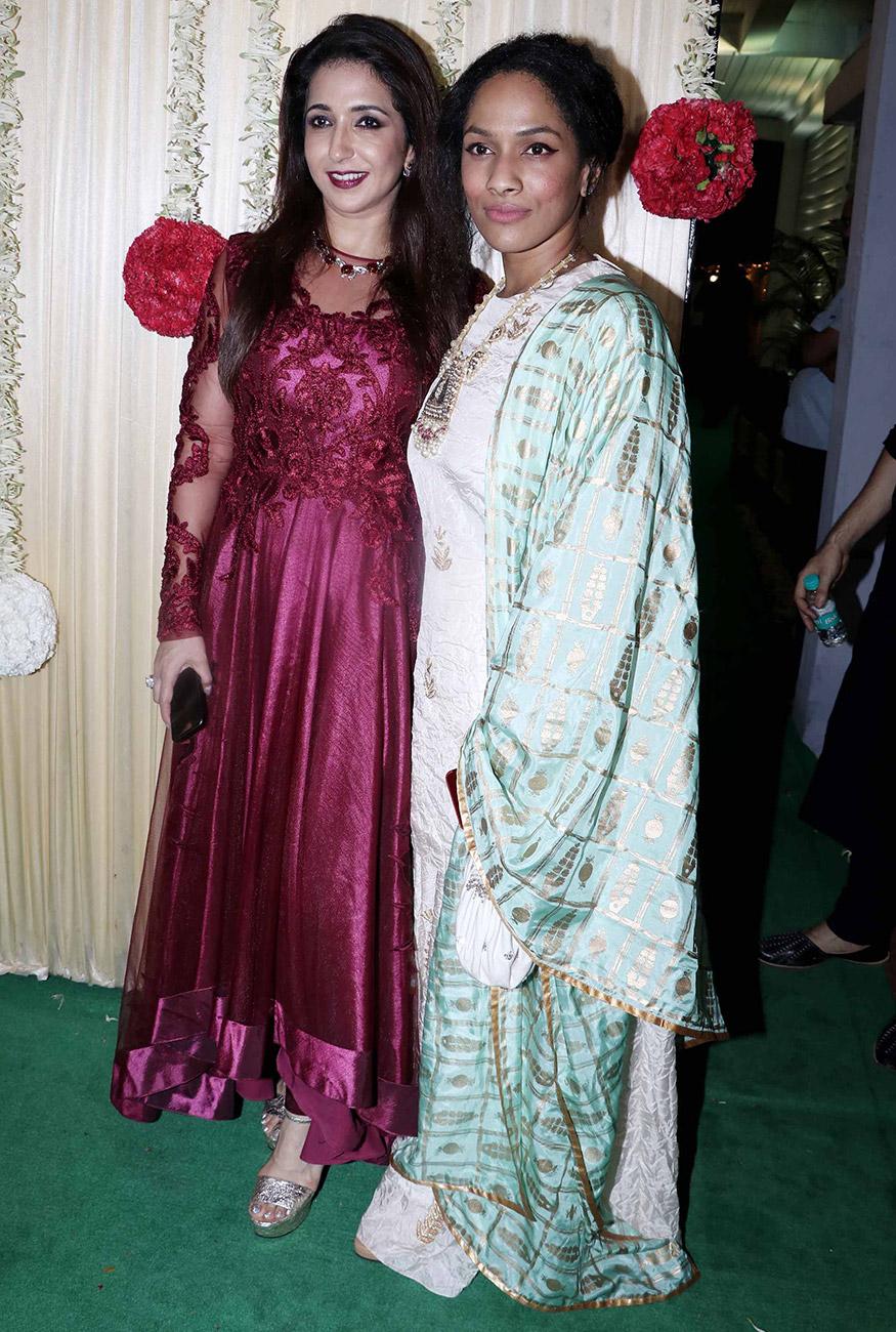 Krishika Lulla and Masaba Gupta during Ekta Kapoor's Diwali party hosted at her residence in Mumbai on October 17, 2017. (Image: Yogen Shah)
