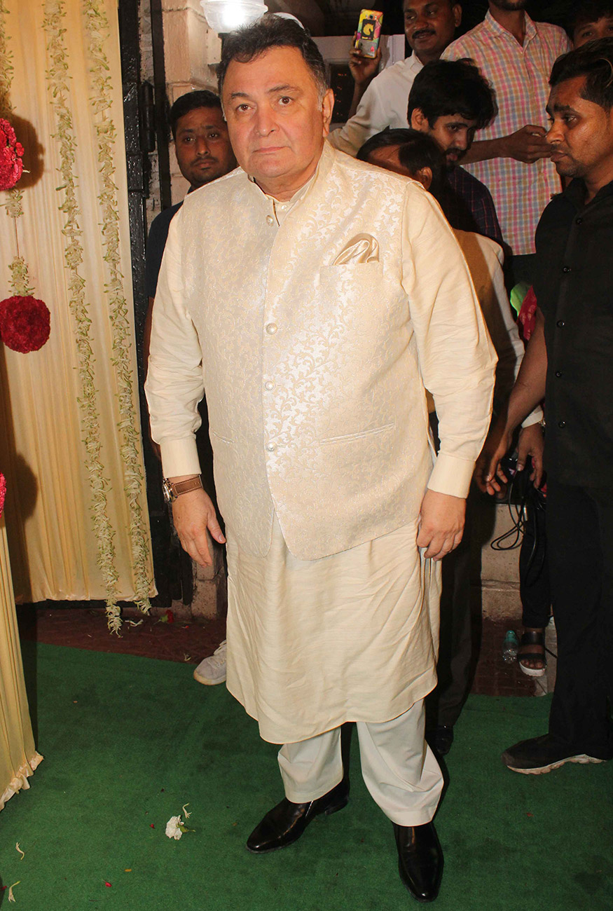Rishi Kapoor at Ekta Kapoor's Diwali party hosted at her residence in Mumbai on October 17, 2017. (Image: Yogen Shah)