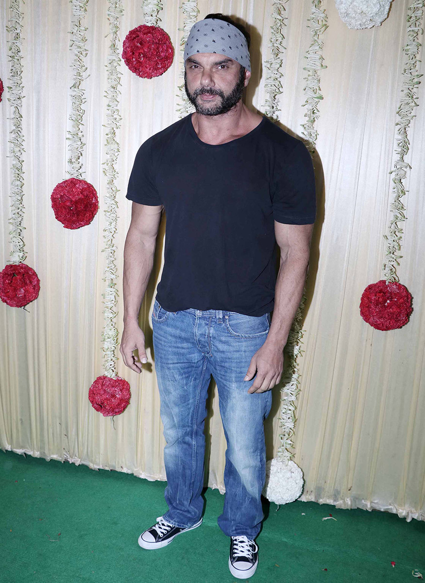 Sohail Khan at Ekta Kapoor's Diwali party hosted at her residence in Mumbai on October 17, 2017. (Image: Yogen Shah)