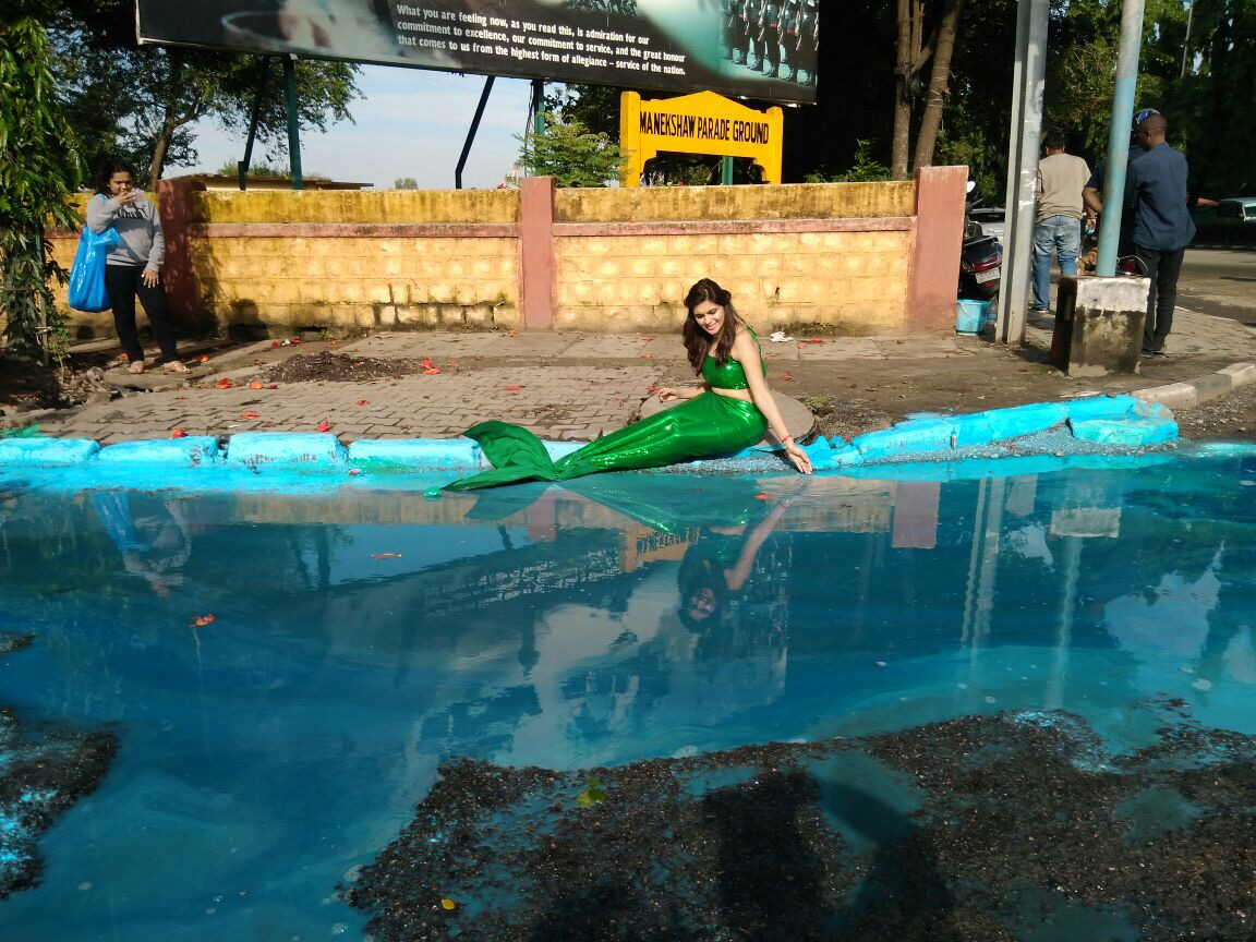 mermaid bengaluru pothole