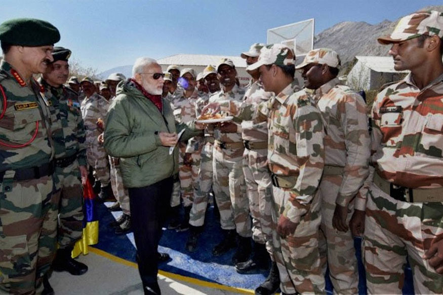 PM Modi, Army Chief Celebrate Diwali With Jawans in Jammu and Kashmir's Gurez