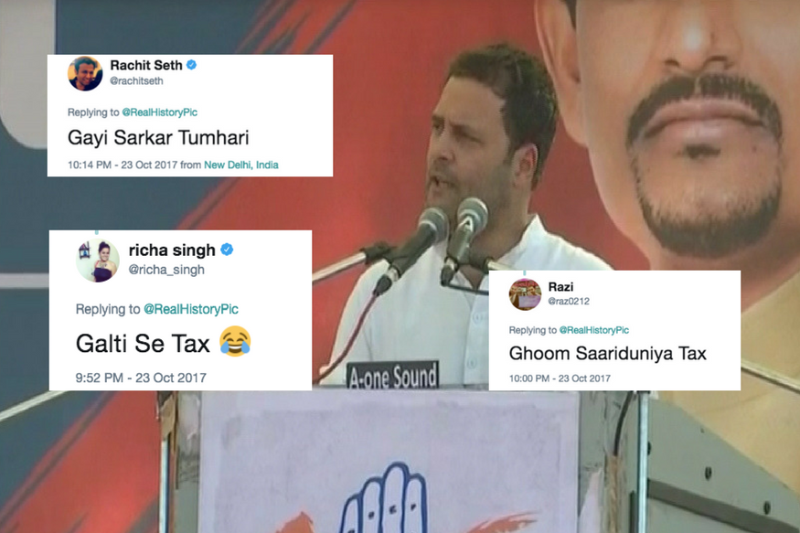 Rahul Called GST A 'Gabbar Singh Tax' And Twitter Got Very Innovative