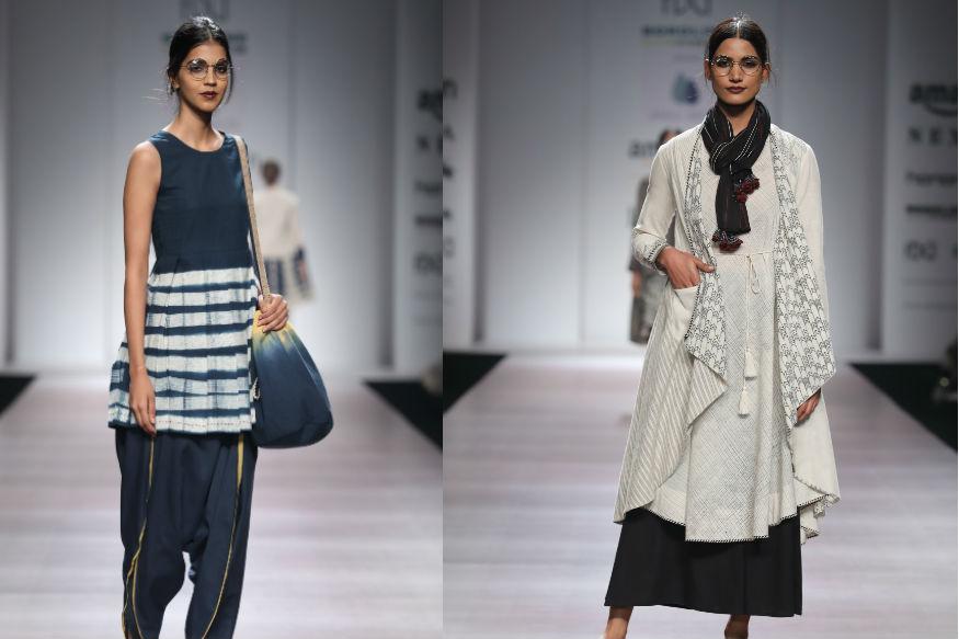 (Photo: Designer Anju Modi's collection showcased on Day 4 of FDCI AIFWSS'18/ W Five Communication)