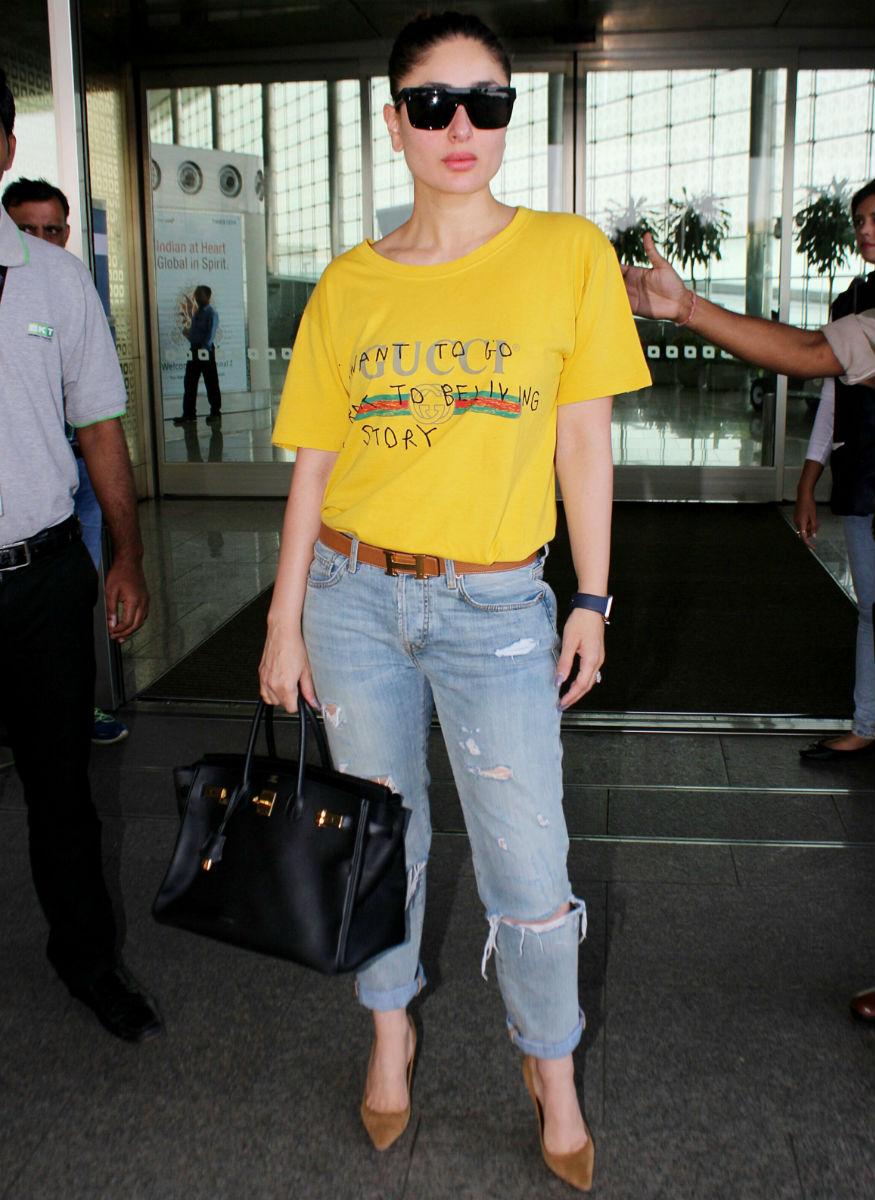 (Photo: Kareena Kapoor Khan at the airport/ Yogen Shah)