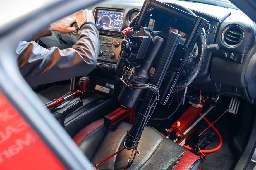 The one-off project car was extensively modified to be driven entirely by a DualShock®4 controller. (Image: Nissan)