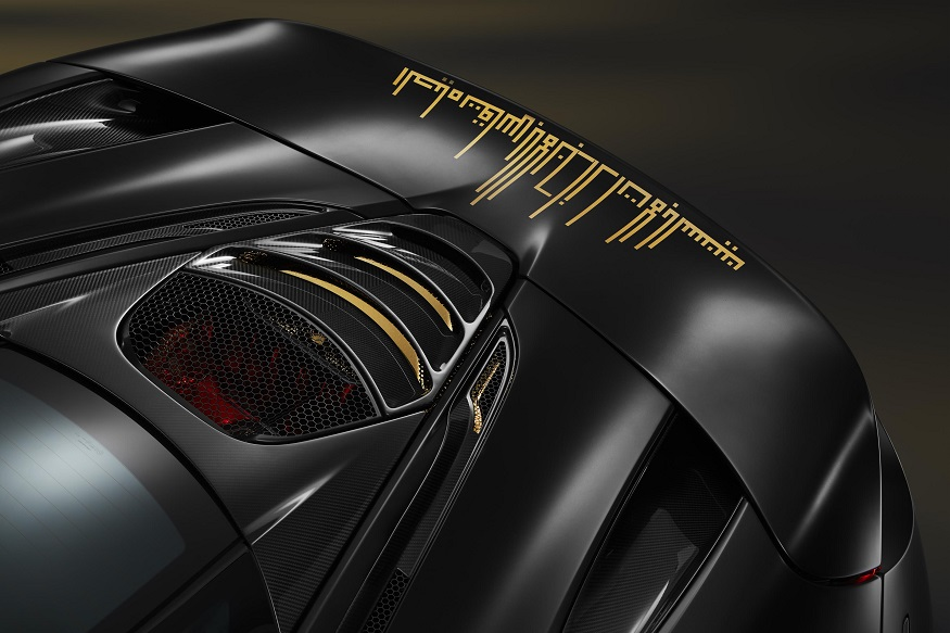 The car's rear wing detail took over 30 hours to complete. (Image: McLaren)