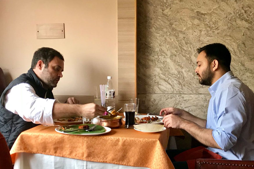 After 'Wonderful' Lunch With Rahul, Tejashwi Tweets Appreciation