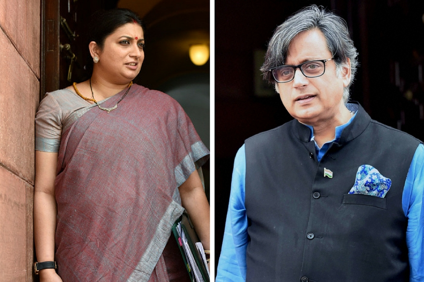 What Will Scindia Say: Smriti Irani Takes a Jibe at Shashi Tharoor for 'Maharaja' Comment