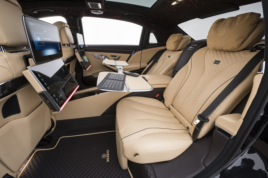 Inside the Brabus 900 based on the Mercedes-Maybach S 650. (Image: AFP Relaxnews)