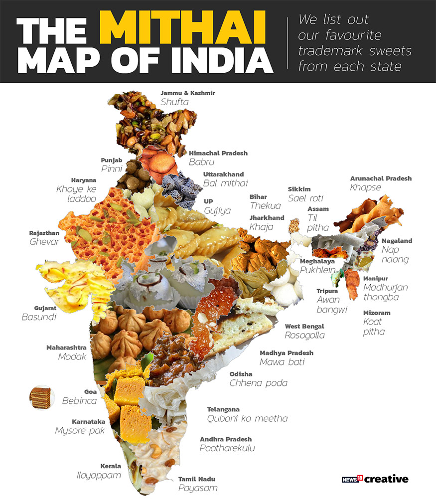 Mithai Map of India