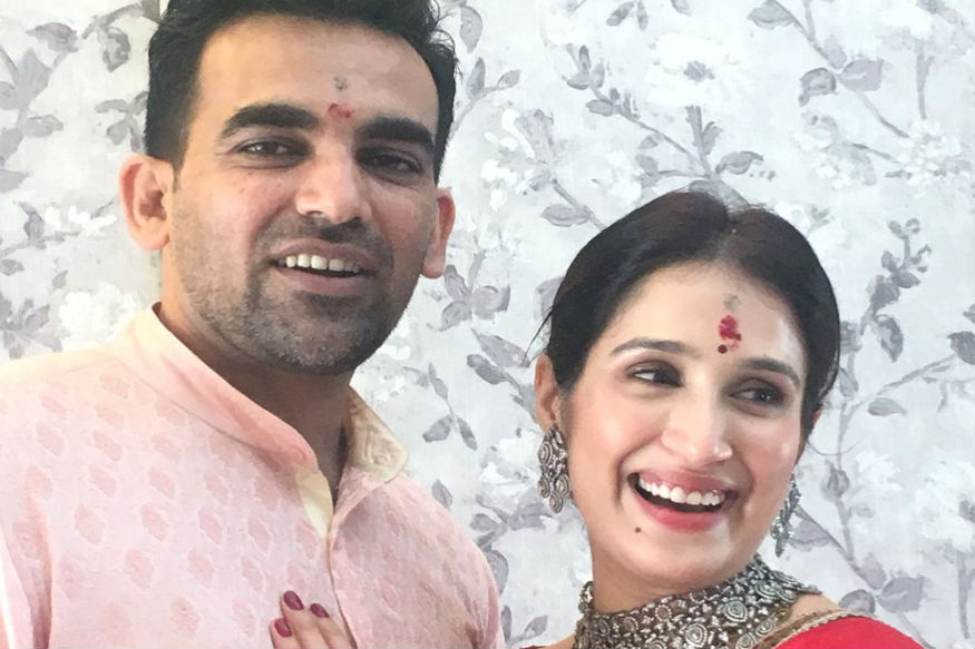 Zaheer Khan-Sagarika Ghatge Wedding: The Actress Looks Beautiful In A Red Sabyasachi Saree