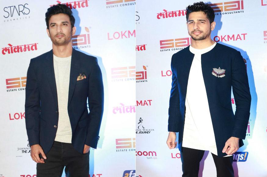 (Photo: Sushant Singh Rajput and Siddharth Malhotra at Lokmat Style Awards 2017/ Yogen Shah)