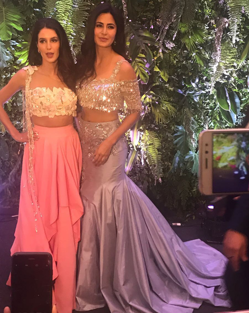 Image result for Katrina Kaif makes a stunning appearance at Anushka and Virat's wedding reception