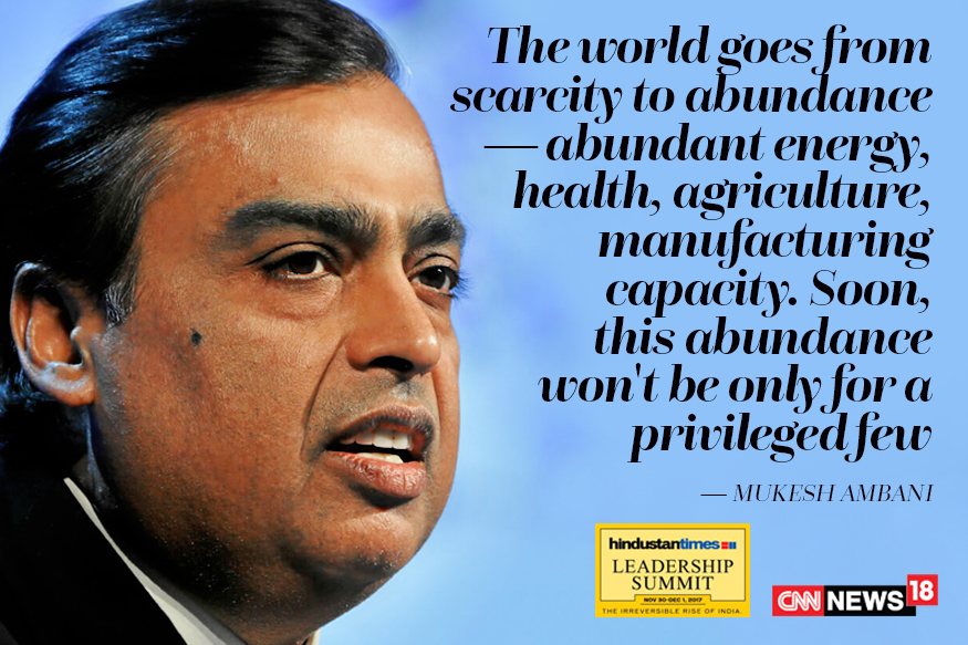 India is the 'biggest investment opportunity', says Ambani