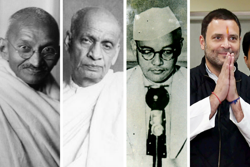 Gandhi, Patel, Bose: The Extraordinary League Rahul Gandhi Joins Today