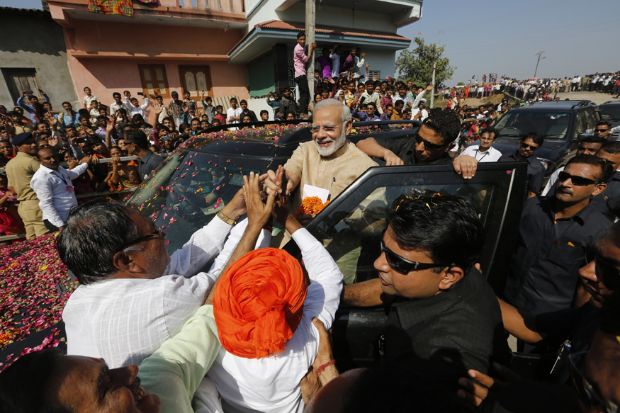 Modi Reaps Brickbats and Bouquets in Bir