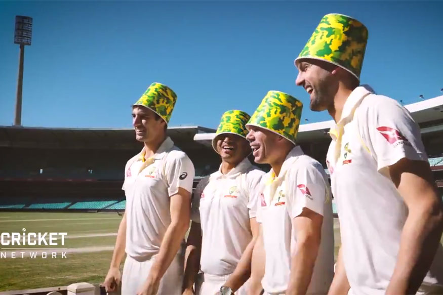 In Between Ashes Action, Australian Stars Try Out 'Bucket Crowns'