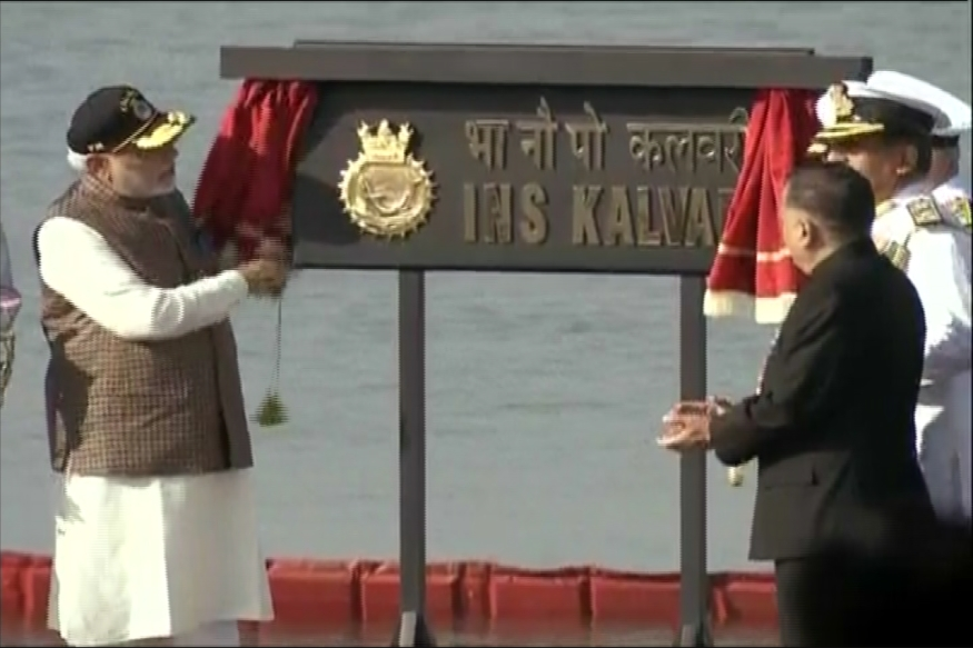 PM Modi Commissions Submarine INS Kalvari, Says Best Example of 'Make in India'