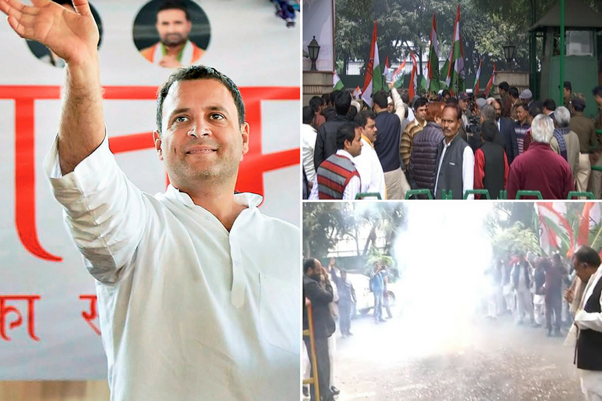 Congress LIVE: Rahul Gandhi Elected Party President Unopposed; Fireworks, Celebrations at 24 Akbar Road