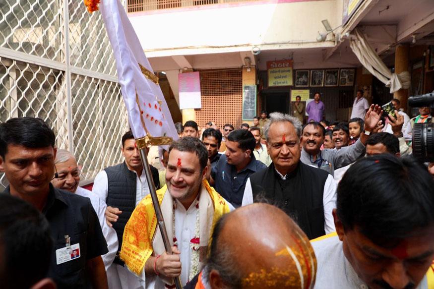 BJP Supporters Crash Rahul Gandhis Temple Run, Chant Modi, Modi