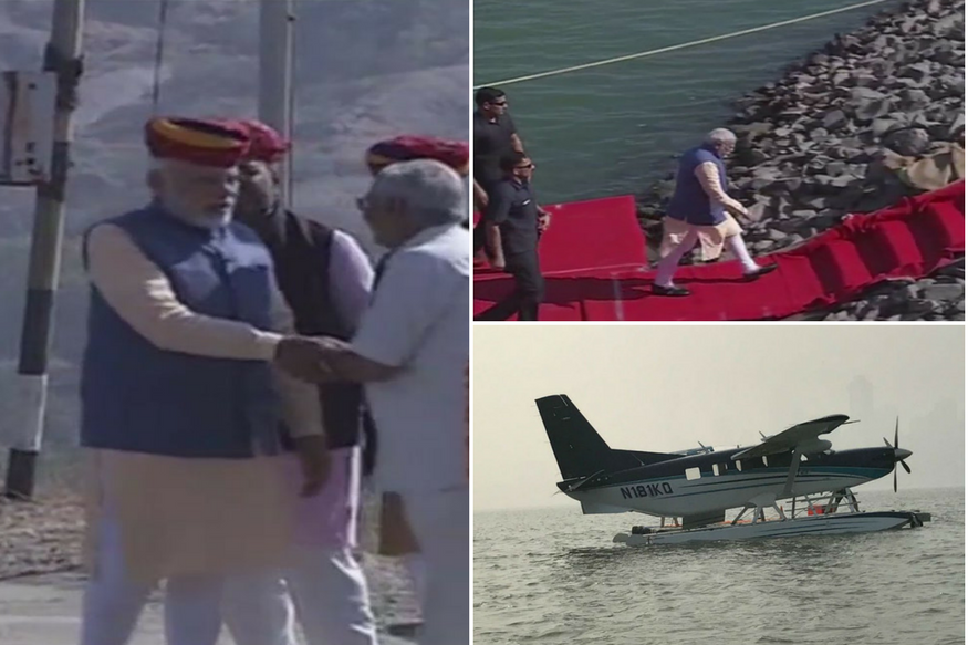 Gujarat Election Campaign LIVE: Seaplane Lands at Dharoi Dam, PM Modi Proceeds to Amba Temple