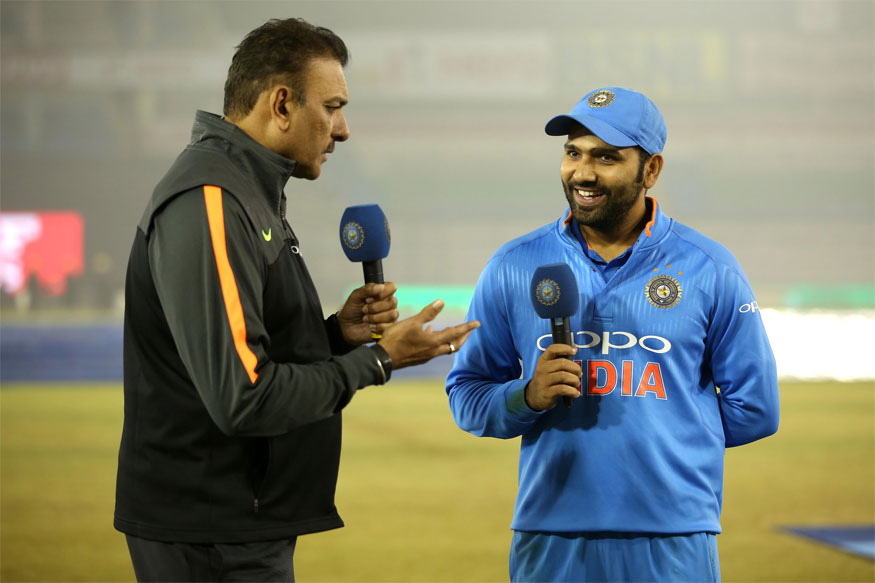 Ravi Shastri Turns Presenter to Interview Rohit 'Paisa Vasool' Sharma at Mohali