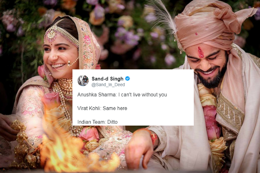 Twitterati Crash Virushka Wedding; Rope in Rahul Gandhi, Manyavar Too
