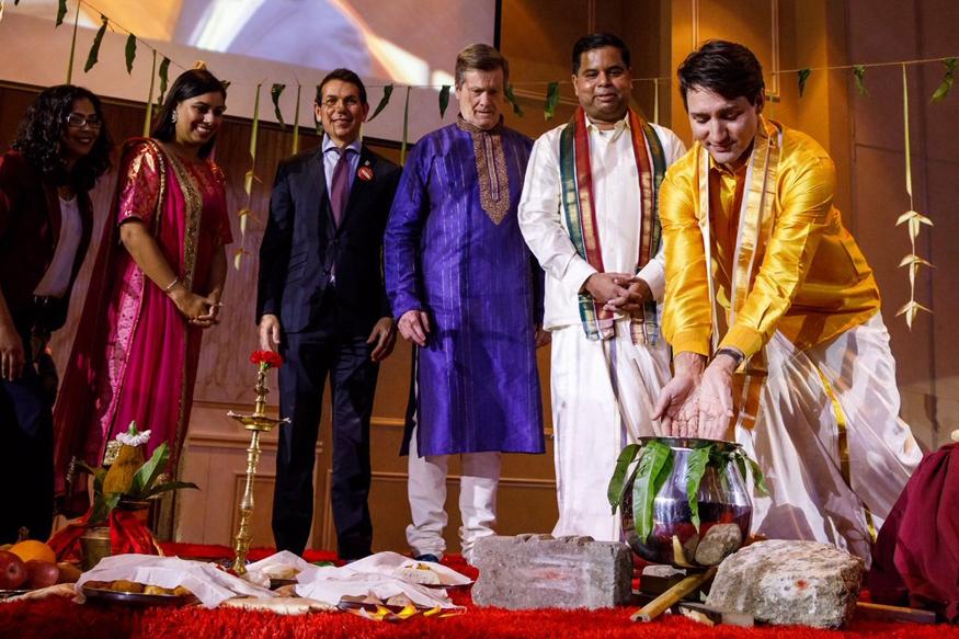 Canadian PM Justin Trudeau Dons Veshti to Celebrate Pongal