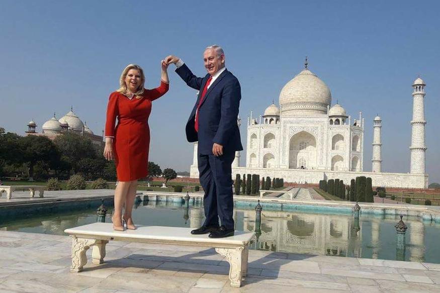 Netanyahu in India LIVE: Israeli PM, Wife Pose on Iconic Taj Mahal Bench