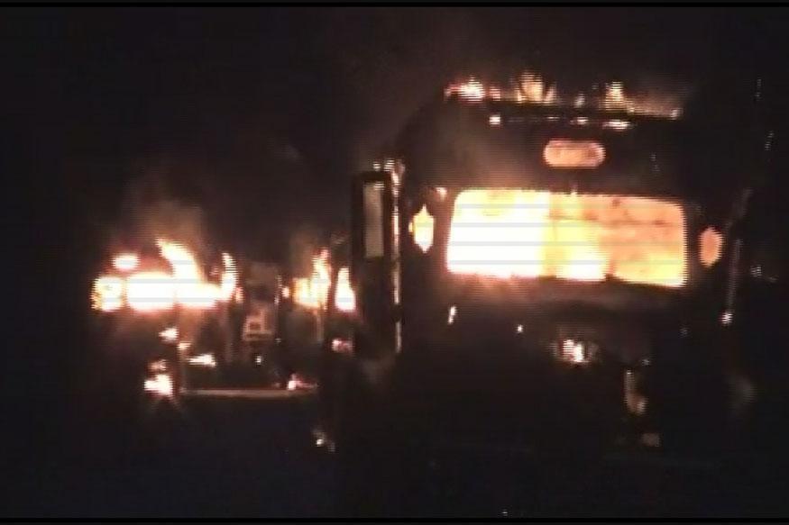 9 Oil Tankers Set Ablaze in Assam, NSCN(K) Militants Suspected for Attack