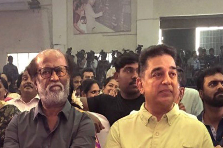 Star Alliance in the Works? Rajinikanth and Kamal Haasan Share Stage in Chennai