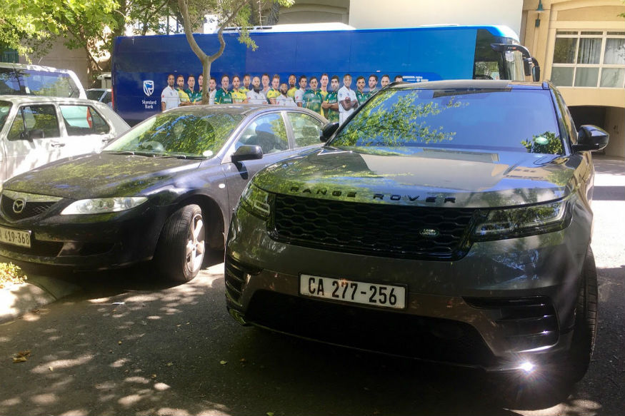 Faf du Plessis's car outside Newlands in Cape Town. (Image: Cricketnext)