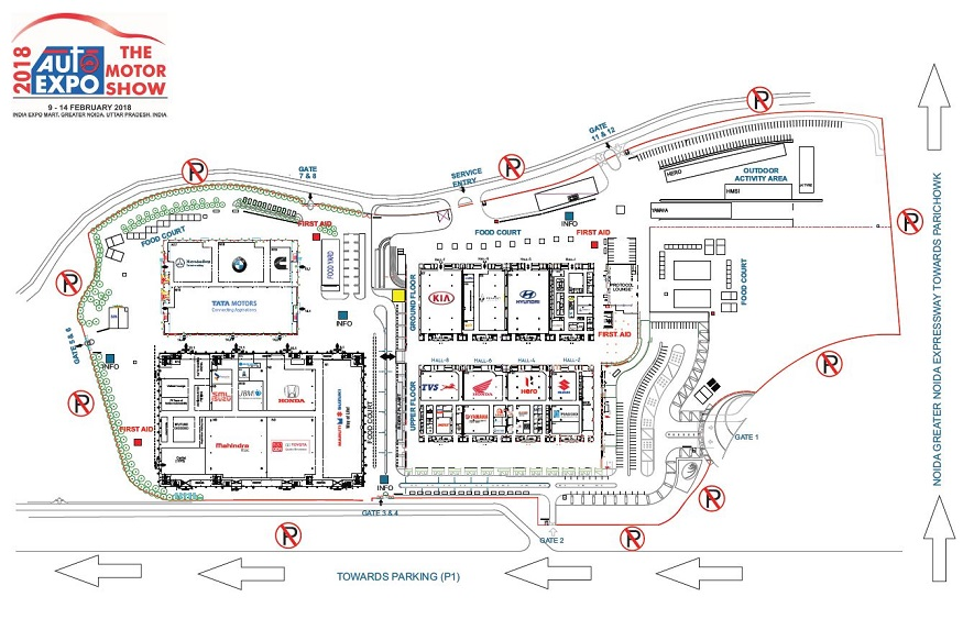 Auto Expo - The Motor Show 2018 Site Plan.