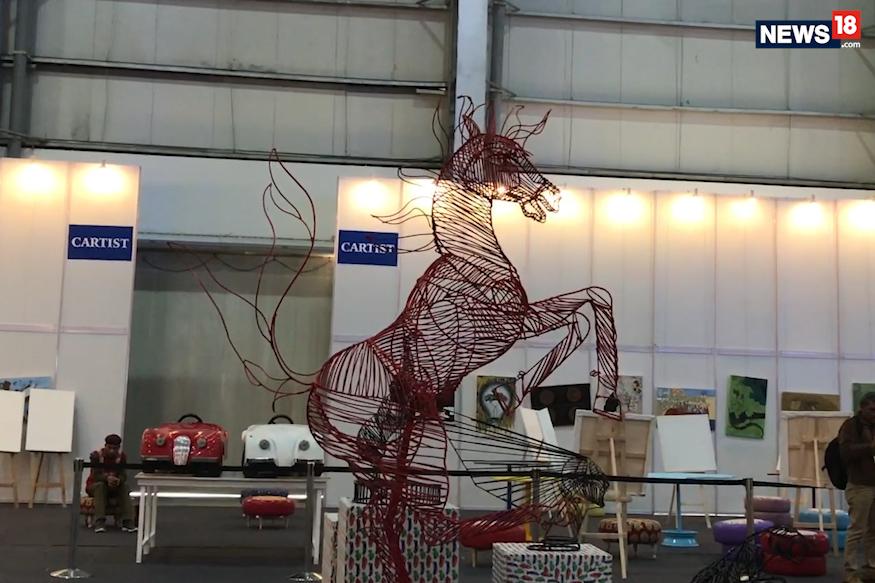 (Photo: Wire frame Ferrari logo/ News18.com)