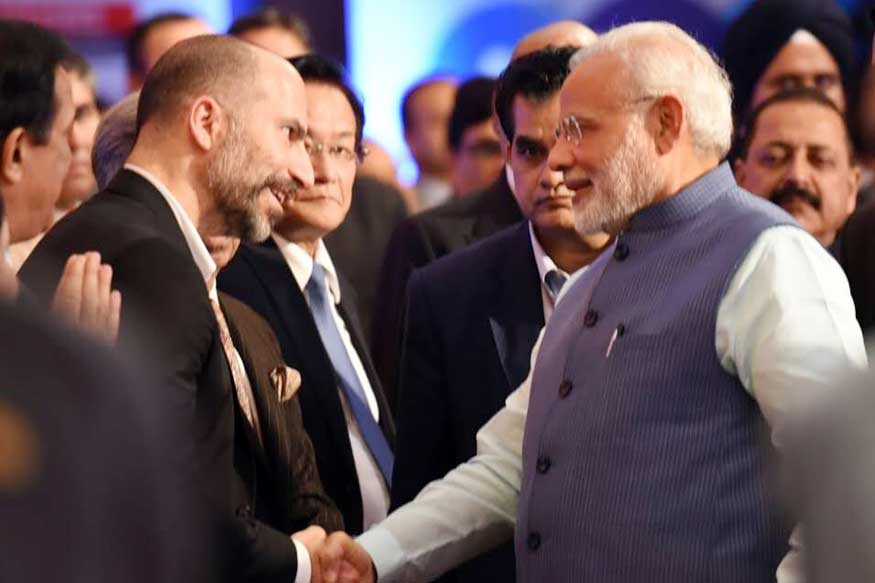 PM, Uber CEO Discuss Ways to Help India Become $5 Trillion