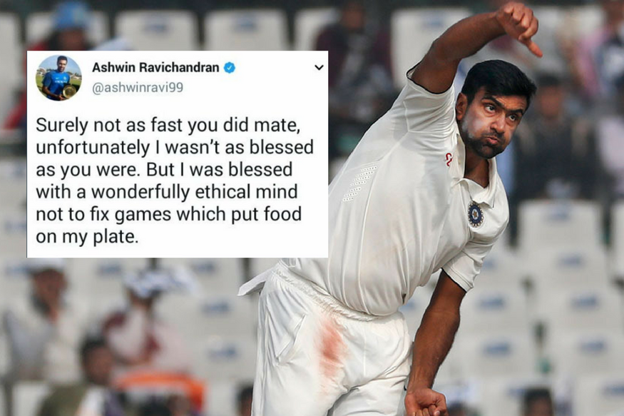 R Ashwin and Herschelle Gibbs Involved in a War of Words on Social Media