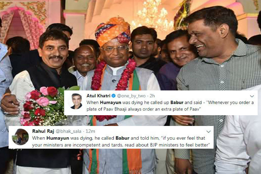 Twitter Schools Rajasthan's BJP President After He Says 'Humayun Asked Babur to Respect Cows'