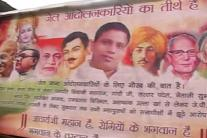 Pics: Posters equate Balkrishna with freedom fighters