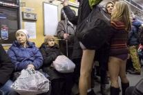 No Pants Subway Ride Day: Commuters drop their pants to participate in the annual event