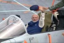 In pics: PM Narendra Modi embarks on INS Vikramaditya