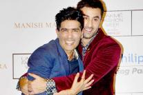 LFW 2015: Ranbir Kapoor hugs Manish Malhotra; Sooraj Pancholi, Karan Johar and others attend the show on Day 2