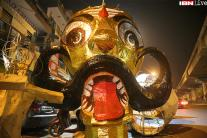 Images: The making of effigies on Delhi streets this Dussehra