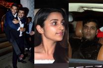 StarGaze: Ranveer Singh, Arjun Kapoor attend wedding party; Parineeti Chopra, Karan Johar visit Manish Malhotra